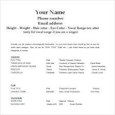theatre resume acting resume template docs 8 resumes free sle exle