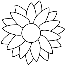 free printable sunflower clipart 52