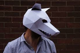 diy geometric paper masks that you can print out at home bored panda