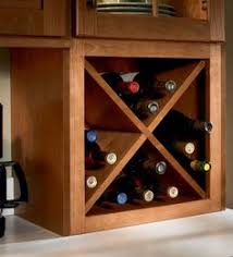 another angle of homemade wine rack in place of cabinets