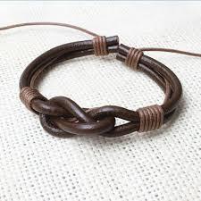 wrist cuff bracelet images Black brown leather rope surf bracelet men knot wrist cuff jpg
