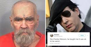 Charles Manson Meme - lots of people are tweeting charles manson rip thinking marilyn
