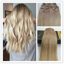 goldie locks clip in hair extensions 6a balayage remy ombre thick clip in human hair extensions