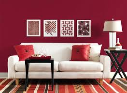 epic red and white living room interior theme designing black