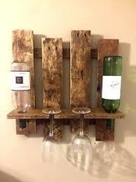Barn Board Wine Rack Wooden Wine Glass Holder Ebay
