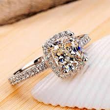 zircon wedding rings images Sterling silver yellow cubic wedding rings engagement rings mervu jpg