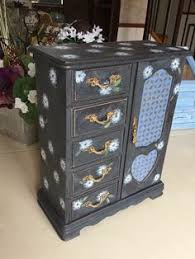 Shabby Chic Jewelry Armoire by 2 Vintage Wooden Cuesta Rey International Wooden Cigar Box Cabinet