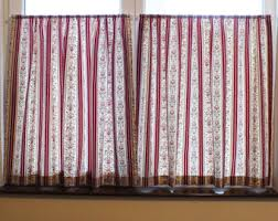 Custom Made Kitchen Curtains by Ruched Curtains Etsy