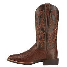 s quantum boots ariat s square toe ostrich boots quantum antique tabac