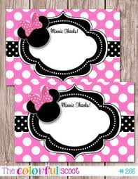 minnie mouse thank you cards minnie mouse thank you card digital file s