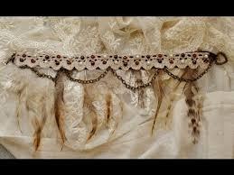 diy bracelet vintage images Diy bohemian vintage feather bead and lace bracelet anklet jpg