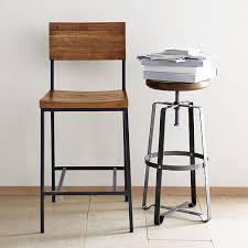 rustic industrial bar stools rustic bar counter stools west elm