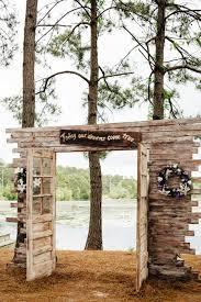 Wedding Entrance Backdrop Lake House Wedding Lakes Wedding And House