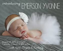 birth announcements make bake and emerson s birth announcement