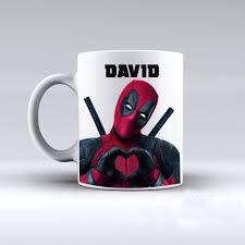 deadpool customized name coffee mugs printed travel novelty