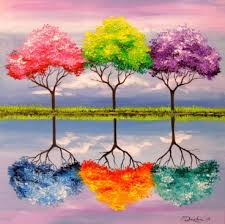 each tree has its own smell painting for sale by olga darchuk