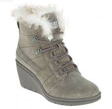 s boots with fur footwear fur waterproof wedge boots in gunsmoke s
