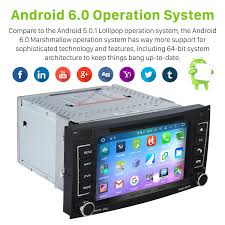 android 6 0 2002 2011 vw volkswagen touareg radio replacement with