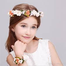 childrens wedding dresses children s wedding dress flower hair band bracelet wrist