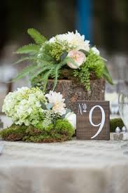 Kitchens By Katie by Tree Stump Moss And Floral Centerpiece By Katie Daniell With