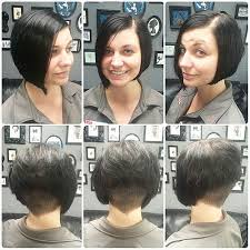 asymetrical ans stacked hairstyles melinda s new textured shaved asymmetrical and stacked bob we