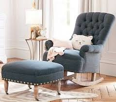 nursery rocking chair with ottoman baby furniture nursery chairs and ottomans pottery barn kids