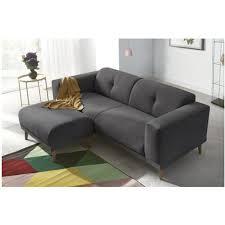 canapé et pouf assorti canape 3 places avec pouf enjoy gris fonce bobochic pas cher à