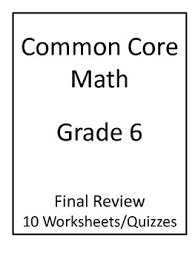 6th grade common core math final review worksheets by jeni hall tpt