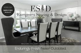 accentuate home staging design group evergreen staging u0026 design services booklet by evergreen staging