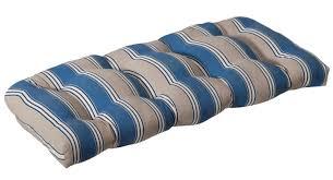 Outdoor Patio Furniture Wicker - outdoor patio furniture wicker loveseat cushion blue u0026 tan