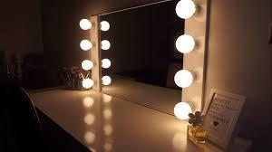 assis led lighted makeup mirror diy lighted makeup mirror makeupkitz