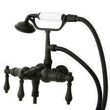 vintage bathtub faucets shop kingston brass vintage oil rubbed bronze 3 handle fixed wall