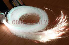 muli strands 1mm end glow fiber optic cables for ceiling floor