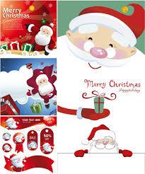 santa claus cards vector free stock vector