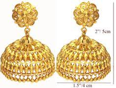 fancy jhumka earrings jewellery designs gold light weight fancy jhumkas gold diamond