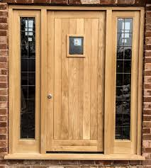 Solid Oak Exterior Doors Front Door And Frame Handballtunisie Org