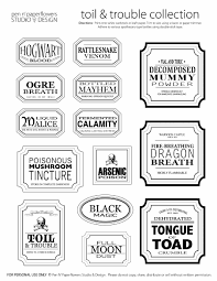 printable halloween specimen jar labels free halloween printable apothecary jar labels toil trouble en