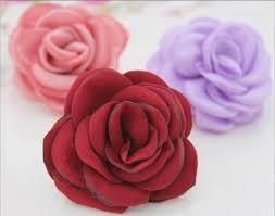 satin roses 4cm burned satin flowers satin burned burned edges