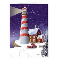 nautical christmas cards lighthouse christmas cards beneconnoi