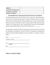 lien waiver form printable sample affidavit of ownership 4 form