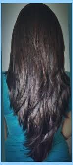 back of the hair long layers long v shaped layered haircut long layered v cut haircuts back