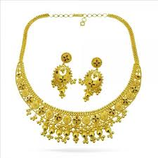 gold jewelry necklace sets images Beaded enamel necklace set with earrings 22kt yellow gold jpg