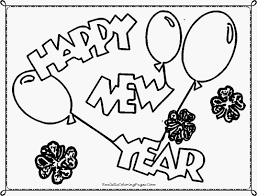 happy new year 2014 coloring pages realistic coloring pages