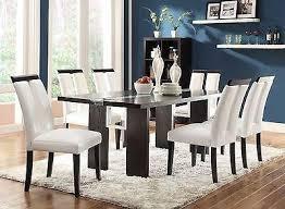 black table white chairs unique led light up dining table chairs black white leatherette