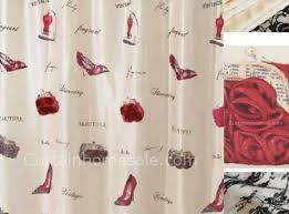 Red Shower Curtain Hooks Shower Red Sheer Shower Curtains Sets For Moroccan Style