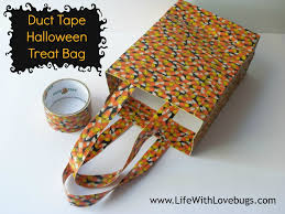 halloween treat bag craft duct tape halloween treat bag life with lovebugs