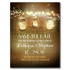 rustic save the dates jars rustic save the date postcard