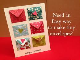 how to make envelopes how to make tiny envelope and a card tutorial youtube