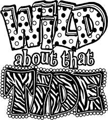 alabama wild about the tide football bama text coloring page