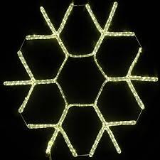 36 warm white led rope light snowflake novelty lights inc